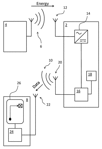 Wireless data transmitting device and method for wireless data transmission