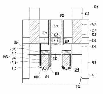 Semiconductor device having buried gate structure and method for manufacturing the same, memory cell having ...