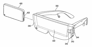 Head-mounted display apparatus for retaining a portable electronic device with display