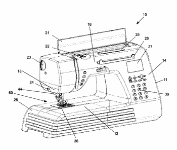 Sewing machine, system and method