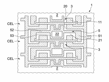 Method for fabrication of an integrated circuit rendering a reverse engineering of the integrated circuit ...