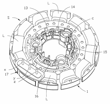 Stator and multiphase brushless motor having the same