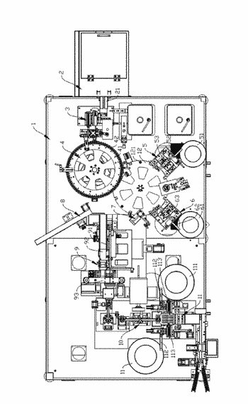 Electronic cigarette atomizer oiling and labeling device