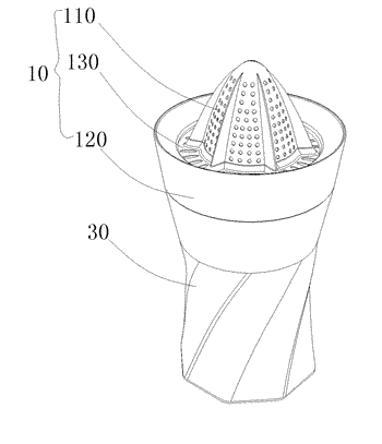 Brewing and squeezing cup