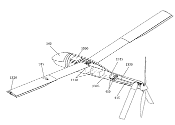 Foldable propeller blade with locking mechanism