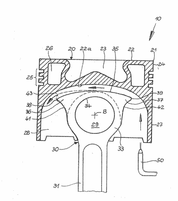 Connecting rod and assembly comprising a piston and a connecting rod