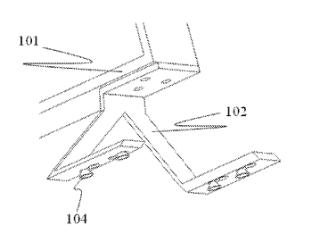 Fixing structure and display device having the fixing structure