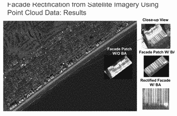 Using satellite imagery to enhance a 3d surface model of a real world cityscape