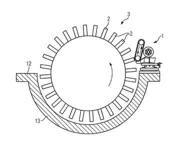 Apparatus for shortening the rotor blades of a turbomachine