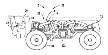 Agricultural vehicle including ride height adjustable suspension