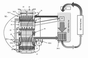 Air handler apparatuses for evaporative fluid cooling and methods thereof