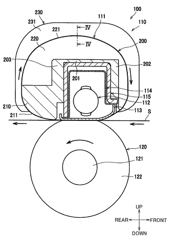 Fixing device restraining increase in sliding resistance of endless belt and frictional wearing thereof