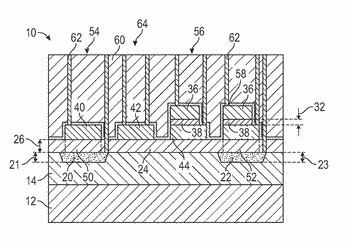 Integrated circuits with high voltage and high density capacitors and methods of producing the same