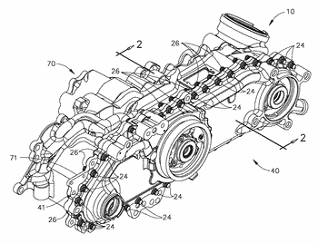 Composite gearbox housing