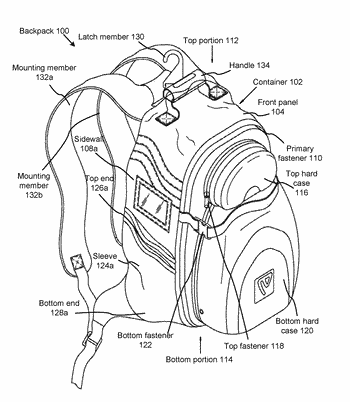 Multi-compartmental sports equipment backpack