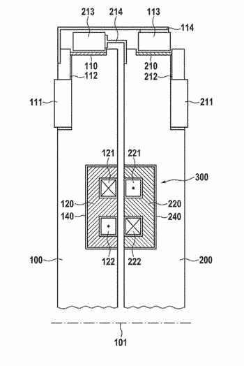 Rotary joint with shielding comprising filled smc and/or bmc materials