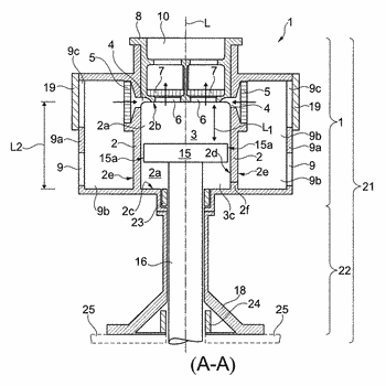 Housing upper part of a labyrinth piston compressor and method for cooling same, and labyrinth ...