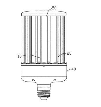 Heat dissipation module for lamp and lamp with the same