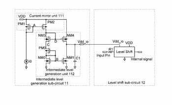 Io interface level shift circuit, io interface level shift method and storage medium
