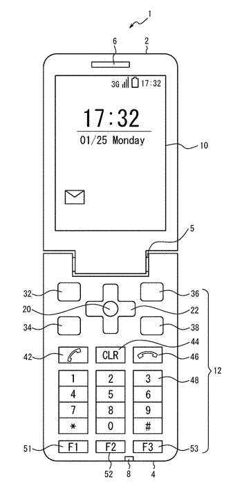 Mobile phone, display control method, and non-transitory computer-readable recording medium