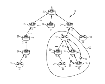 Promiscuous detection and intercepted forwarding by parent network device in a storing-mode tree-based network