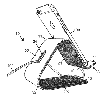 Repositionable stand for portable electronic device