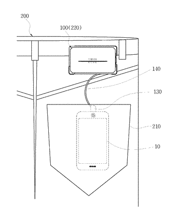 Portable charging apparatus and pants that allow charging using the same