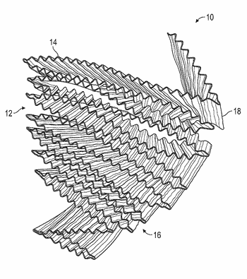 Fan fold bonded metal catalyst substrate and method for constructing the same