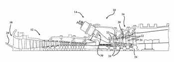 Film cooling hole arrangement for acoustic resonators in gas turbine engines