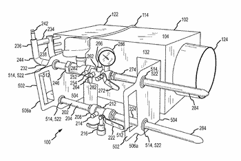 Embedded heat exchanger with support mechanism