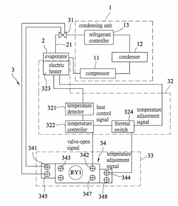 Refrigeration system and its pressure balance control device