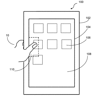 Method for creating touch screen interface with deactivated portion and device using the method