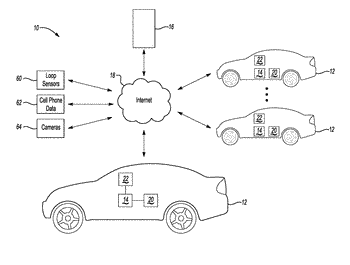 Traffic profiling and road conditions-based trip time computing system with localized and cooperative assessment