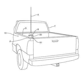 Antenna and accessory mounting device for a motor vehicle