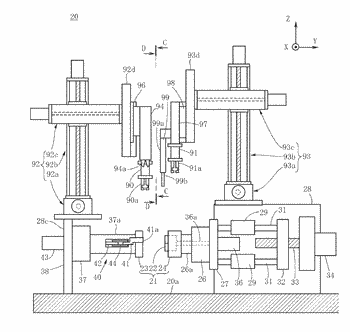 Coil manufacturing device and coil manufacturing method