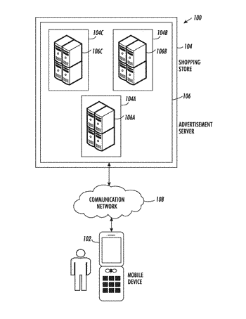 Methods and systems for broadcasting targeted advertisements to mobile device