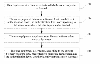 Identity authentication method and apparatus, and user equipment