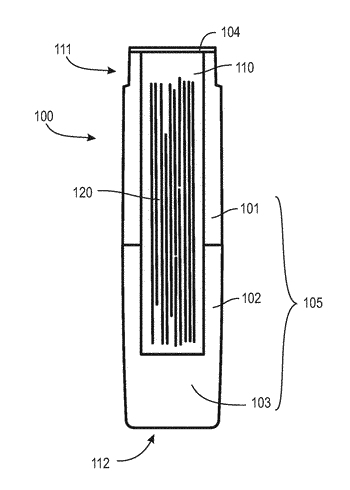 Capsule having a liquid transporting element for uses with an electronic smoking device