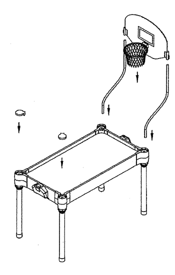 Games tables and corner assemblies for same