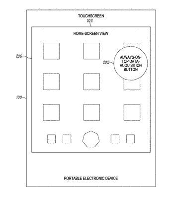Methods and systems for implementing an always-on-top data-acquisition button