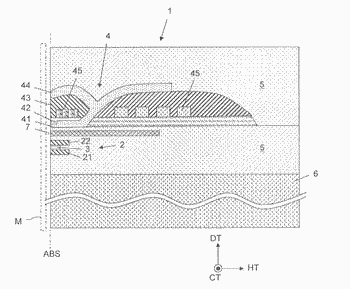 Magneto-resistive effect element having side shield integrated with upper shield
