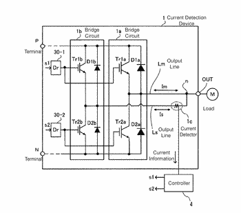 Inverter circuit with current detection circuitry