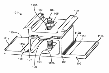 Clamps for securing solar energy panels