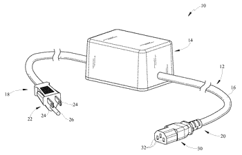 Location tracking power cord and method therefore