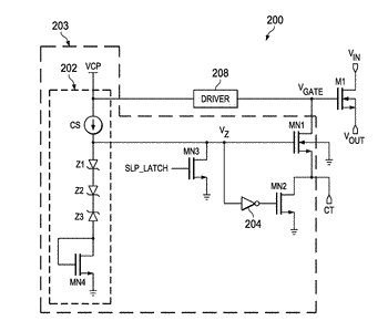 Gate capacitance control in a load switch