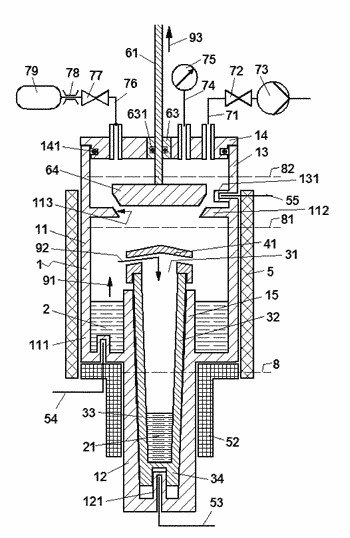Process and apparatus for vacuum distillation of high-purity magnesium