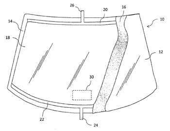 Heatable window with a high-pass frequency selective surface