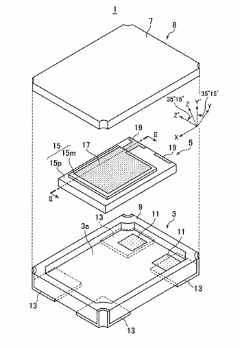 Crystal vibration element and crystal vibration device