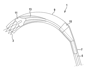 Delivery catheter and catheter arrangement