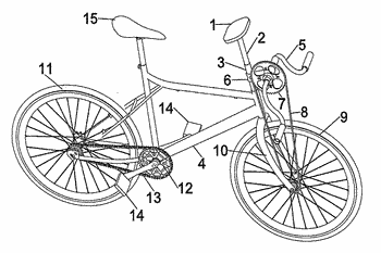 Bicycle with support device